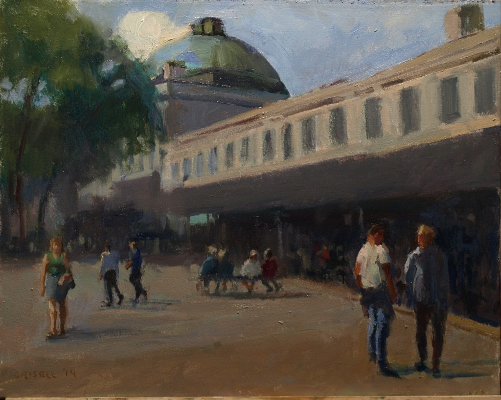 Quincy Market, Oil on Canvas, 16 x 20 Inches, by Susan Grisell, $450