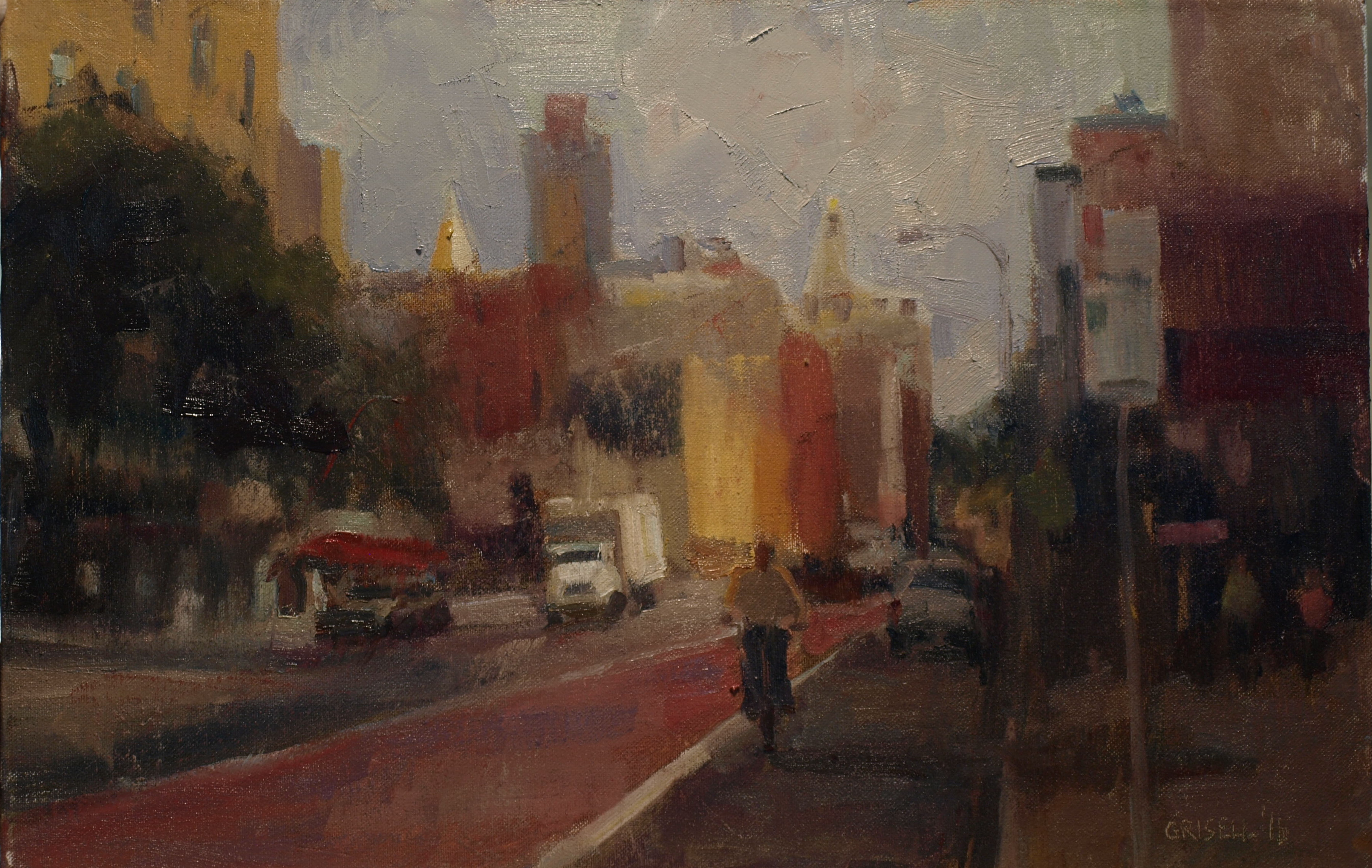 Chelsea Street, Oil on Canvas on Panel, 12 x 18 Inches, by Susan Grisell, $300