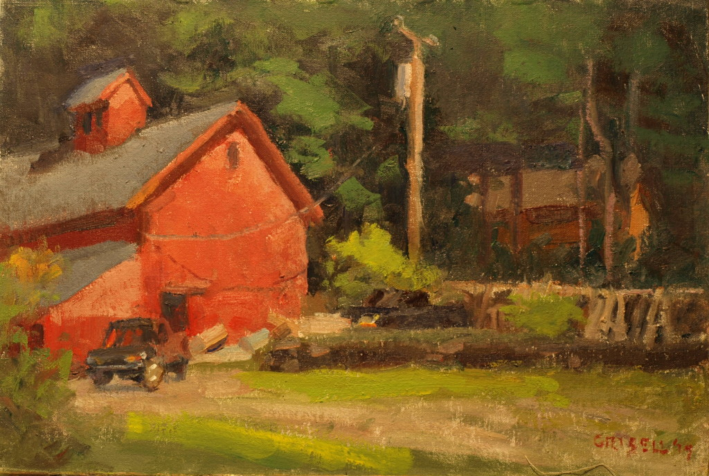 Marble Valley Farm, Oil on Canvas on Panel, 12 x 18 Inches, by Susan Grisell, $325