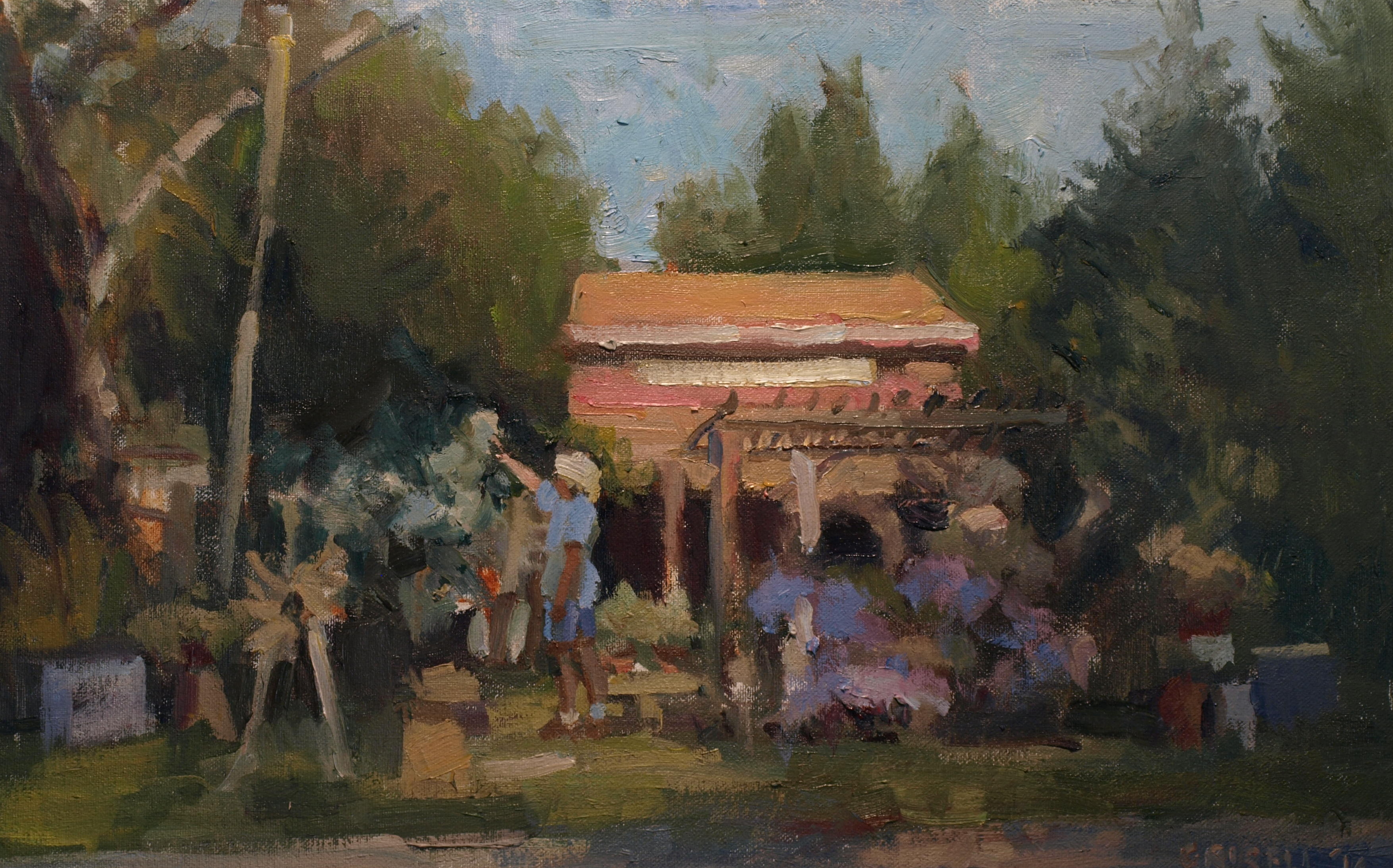 Fieldstone, Oil on Canvas on Panel, 12 x 18 Inches, by Susan Grisell, $300