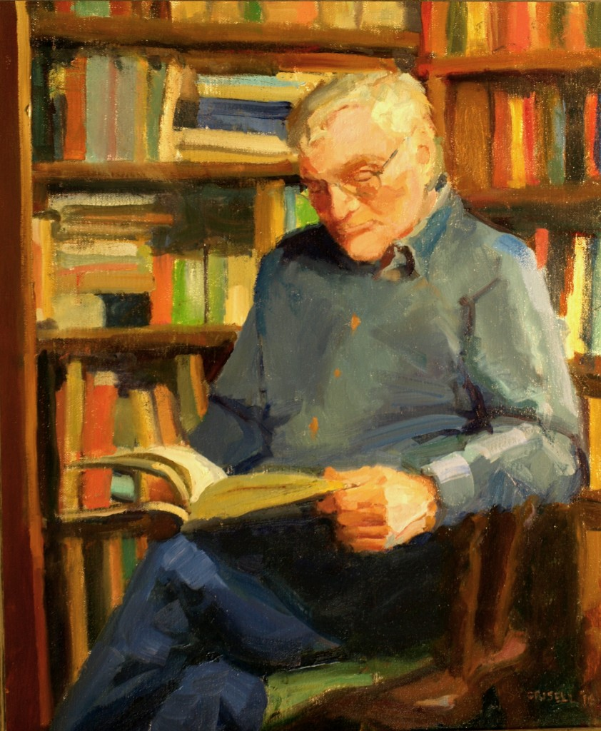 A Good Book, Oil on Canvas, 24 x 20 Inches, by Susan Grisell, $750
