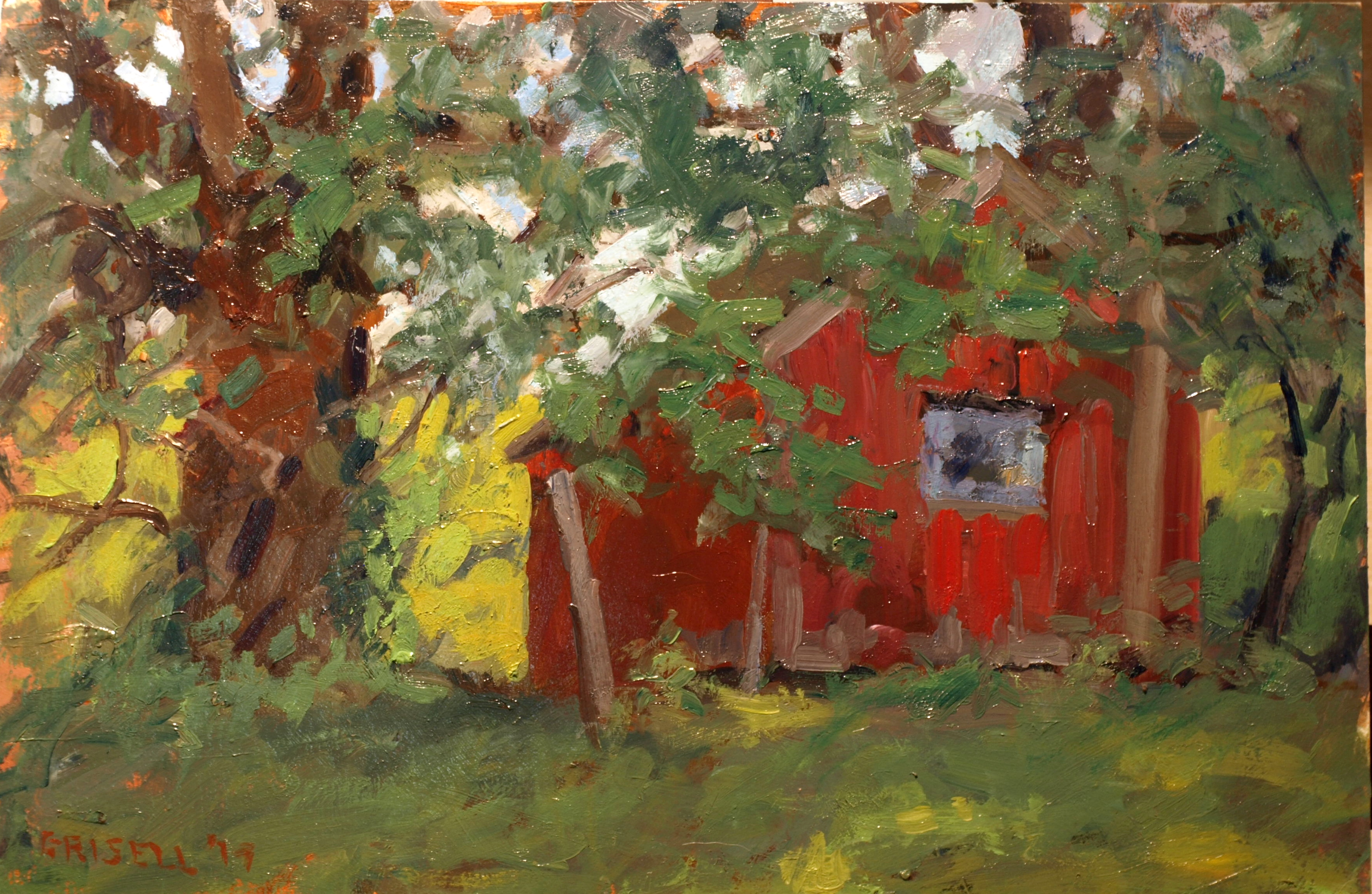 Maple Brook Farm, Oil on Panel, 12 x 18 Inches, by Susan Grisell, $300