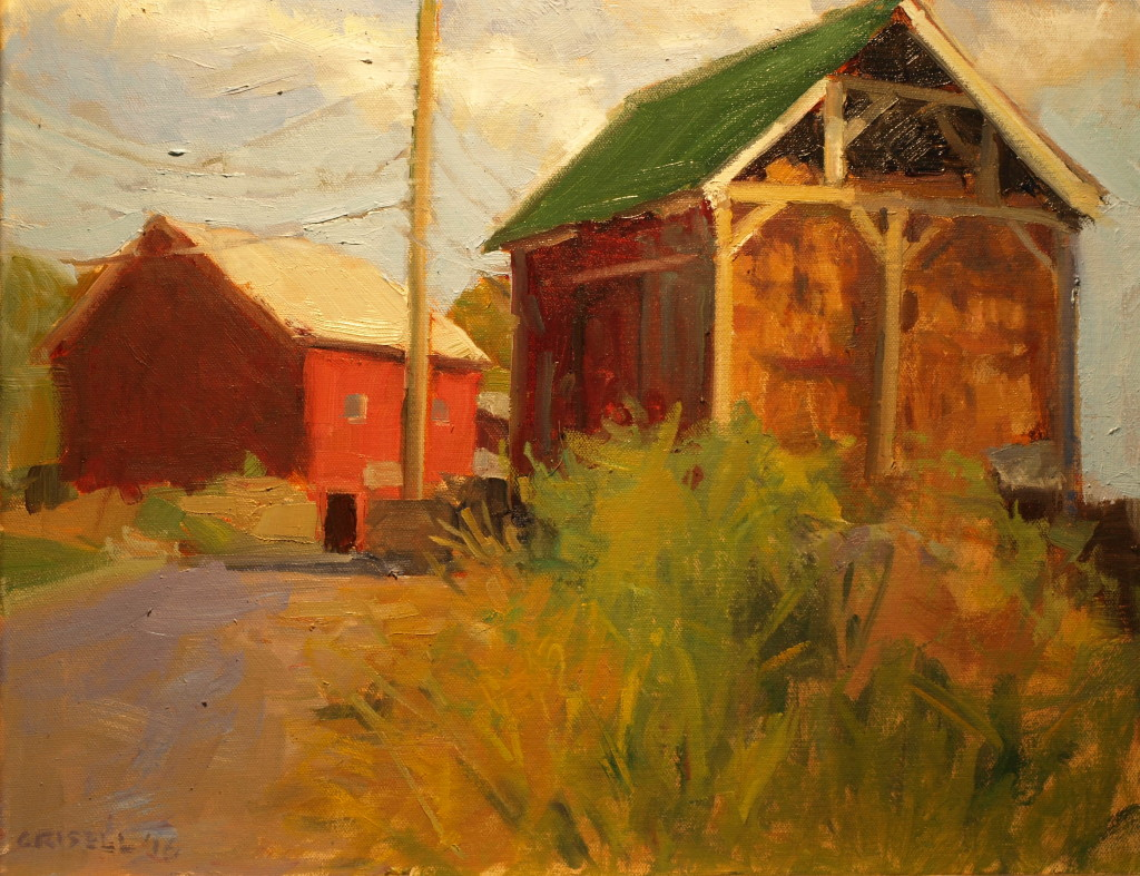 Hay Barn, Oil on Canvas, 16 x 20 Inches, by Susan Grisell, $550