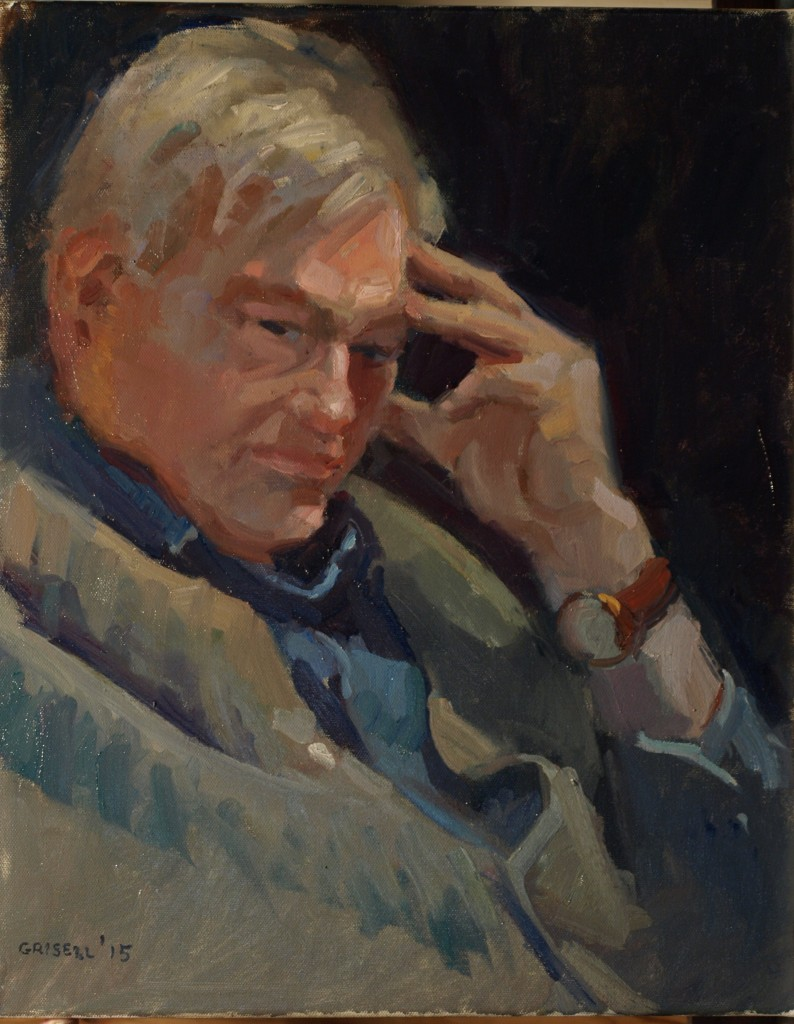 Pondering, Oil on Canvas, 20 x 16 Inches, by Susan Grisell, $475