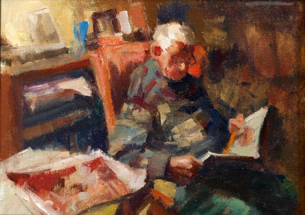 Studio Corner, Oil on Canvas on Panel, 12 x 16 Inches, by Susan Grisell, $325