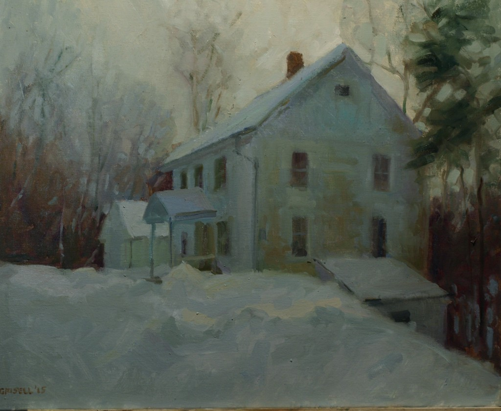 Snowed In, Oil on Canvas, 20 x 24 Inches, by Susan Grisell, $750