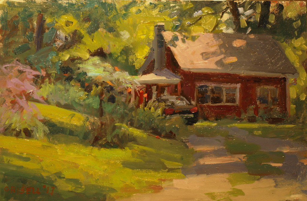 Summer Afternoon, Oil on Panel, 12 x 18 Inches, by Susan Grisell, $325
