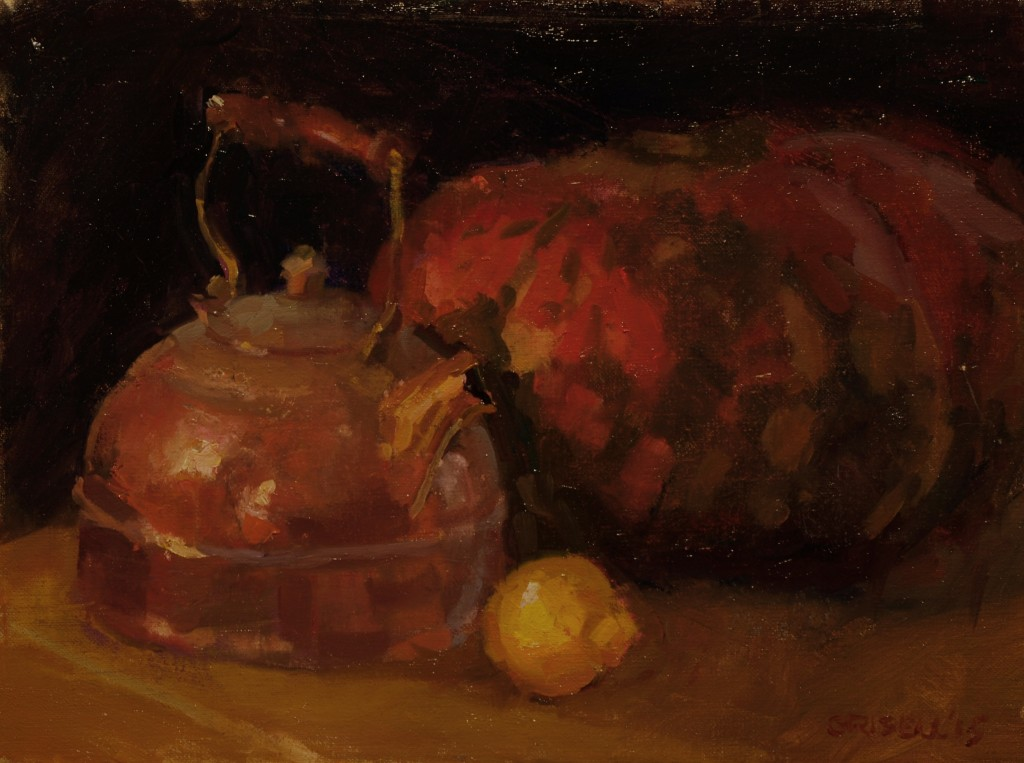 Cinderella Pumpkin, Oil on Canvas, 12 x 16 Inches, $275