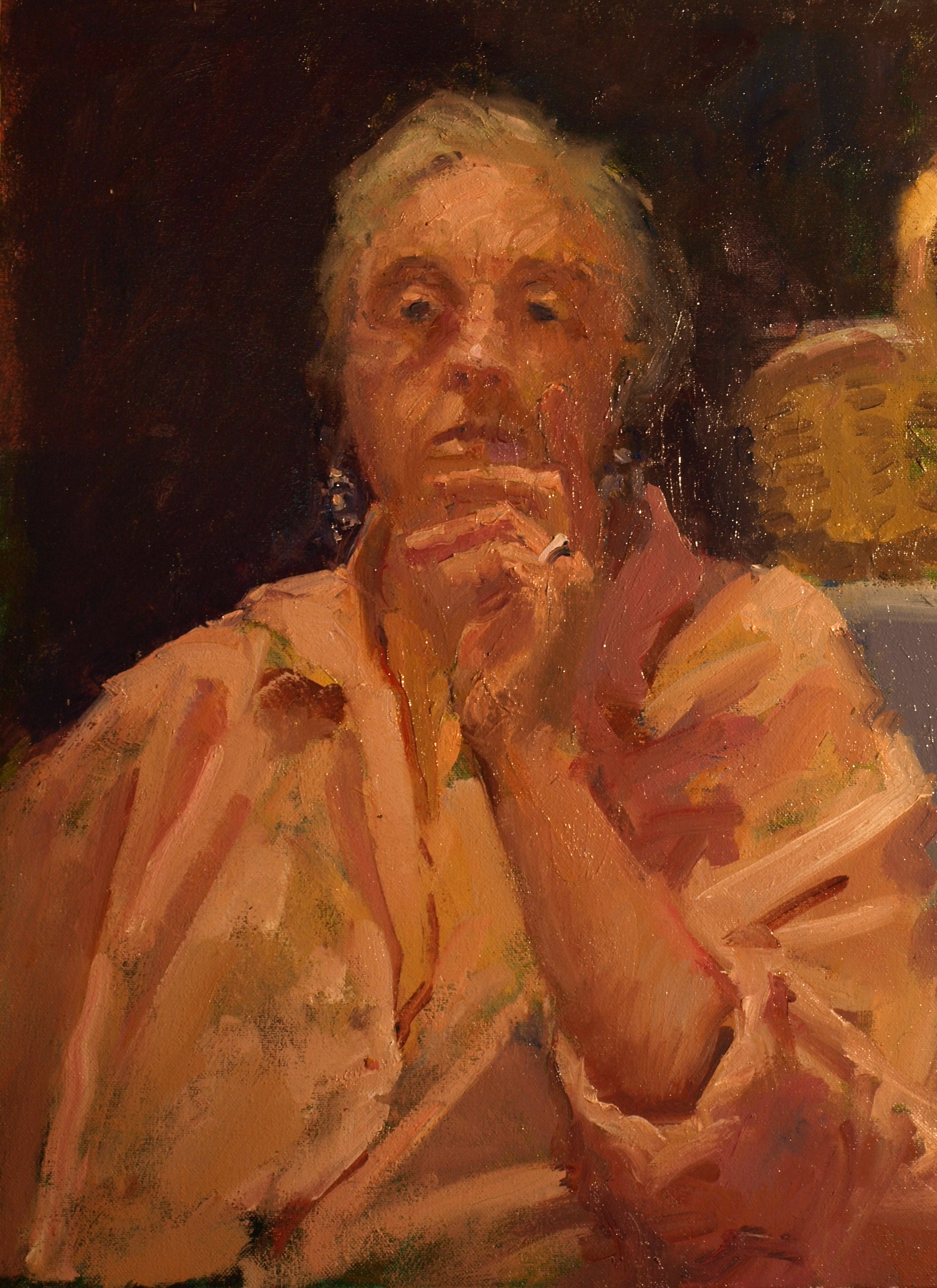 Pink Shirt, Oil on Canvas, 18 x 14 Inches, by Susan Grisell, $500