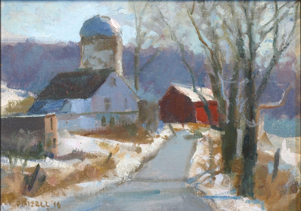 Tanners Farm, Oil on Canvas on Panel, 12 x 16 Inches, by Susan Grisell, $325