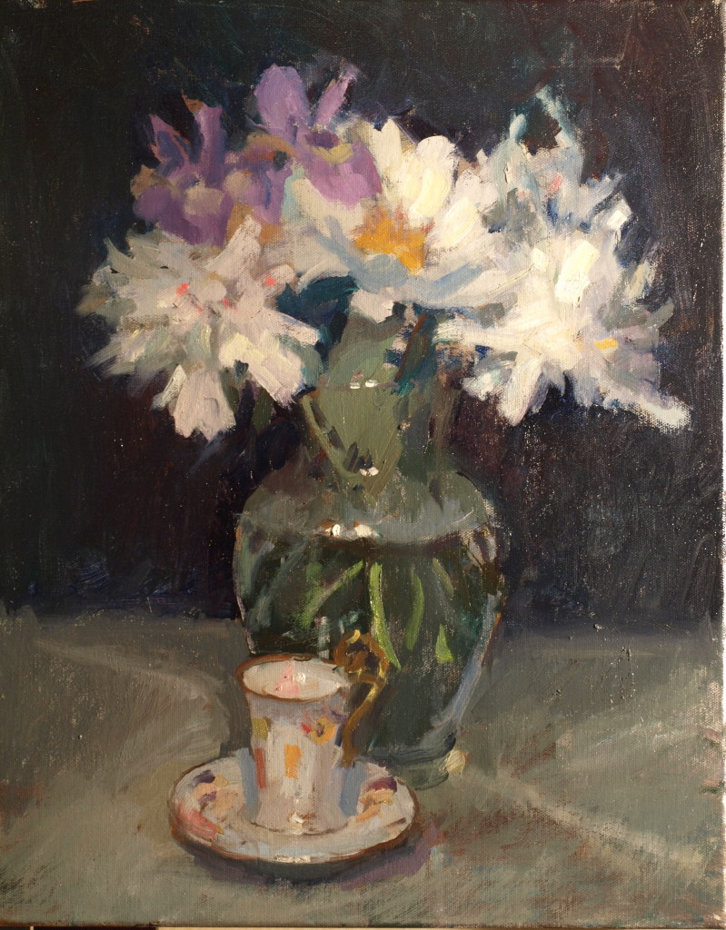 May Blooms, Oil on Canvas, 20 x 16 Inches, by Susan Grisell, $550