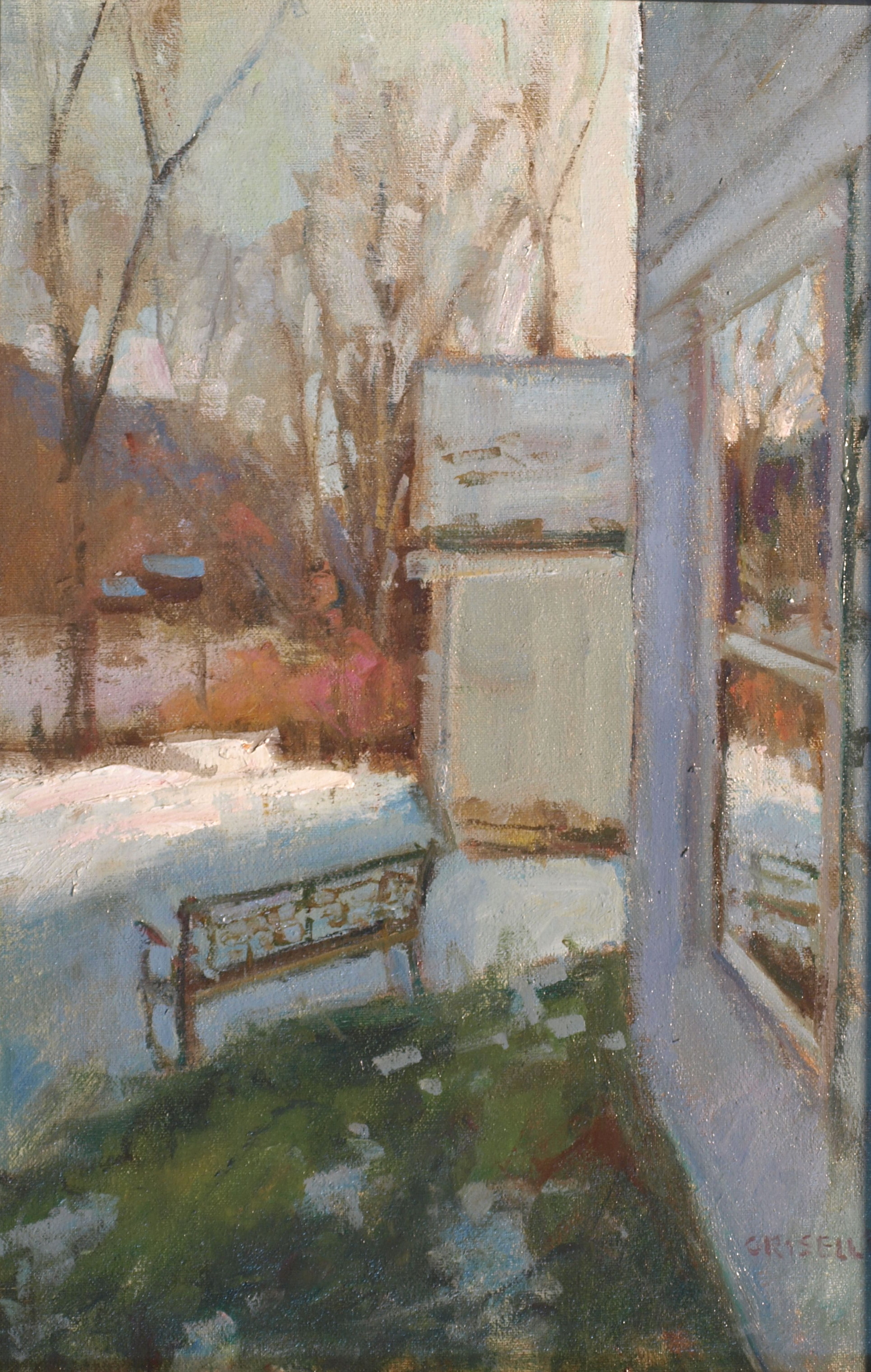 Reflections, Oil on Canvas on Panel, 18 x 12 Inches, by Susan Grisell, $325