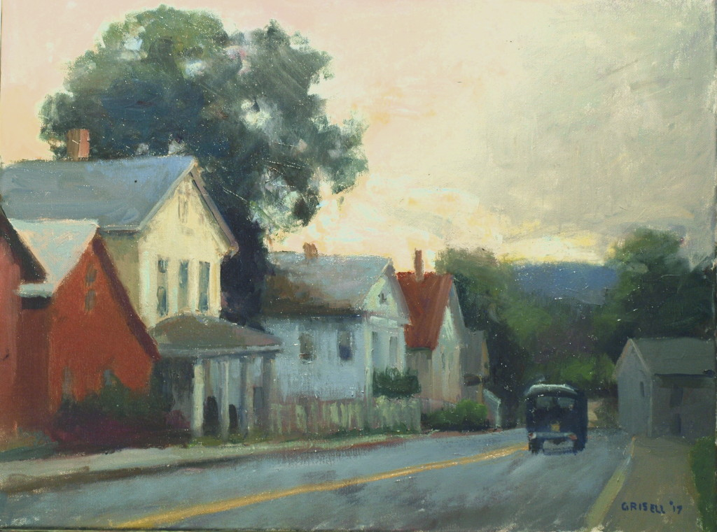 Sunday on Bennitt Street, Oil on Canvas, 18 x 24 Inches, by Susan Grisell, $600