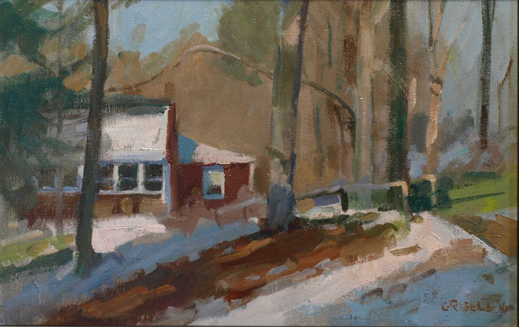 Winter Afternoon, Oil on Canvas on Panel, 12 x 18 Inches, by Susan Grisell, $300