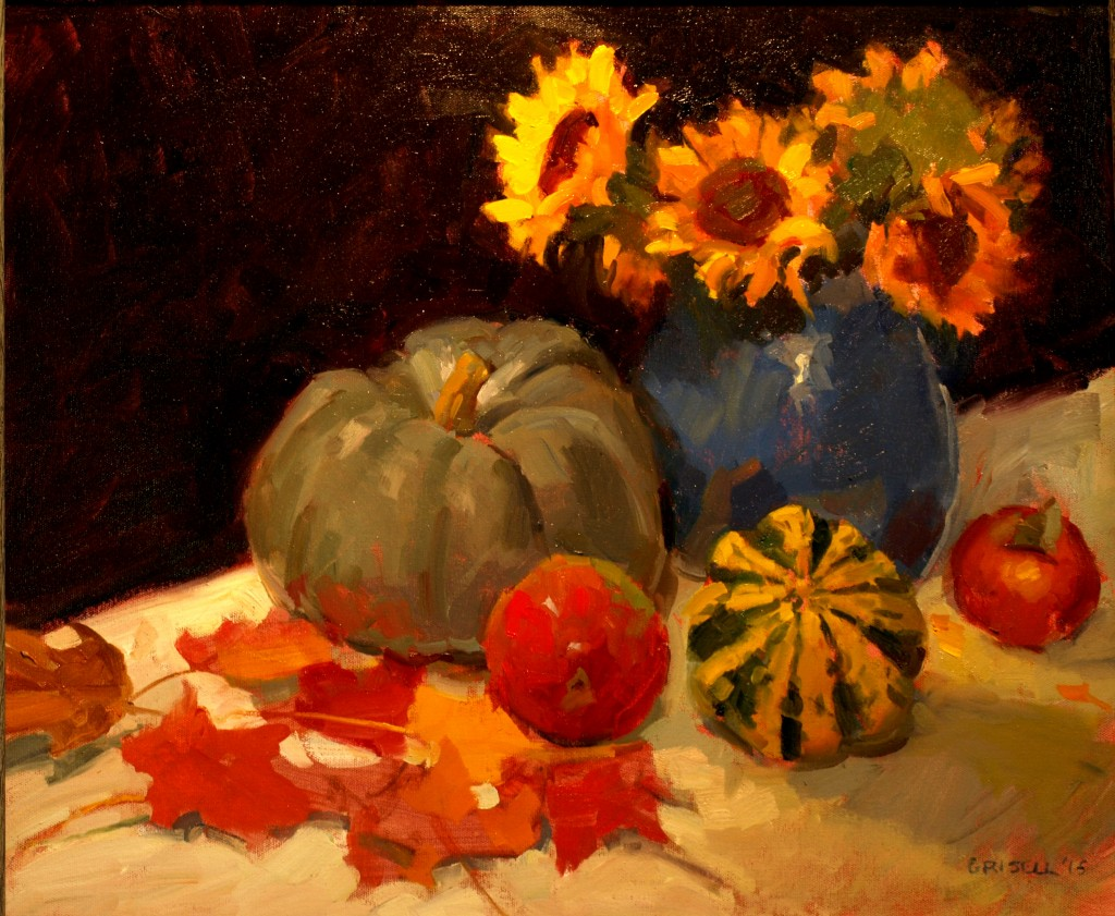 October Colors, Oil on Canvas, 20 x 24 Inches, by Susan Grisell, $750