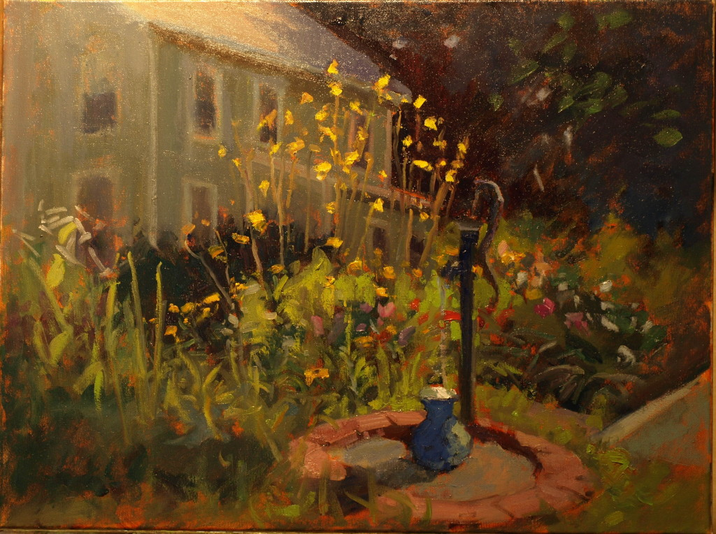 Margery's Garden; Oil on Canvas, 20 x 24 Inches, by Susan Grisell, $700