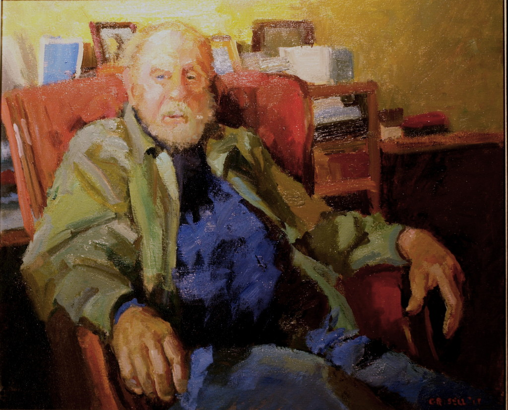 Tom, Oil on Canvas, 20 x 24 Inches, by Susan Grisell, $750