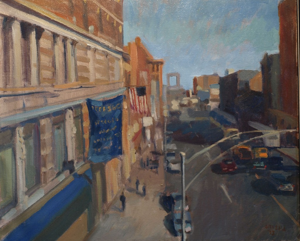125th Street, Oil on Canvas, 20 x 24 Inches, by Susan Grisell, $800