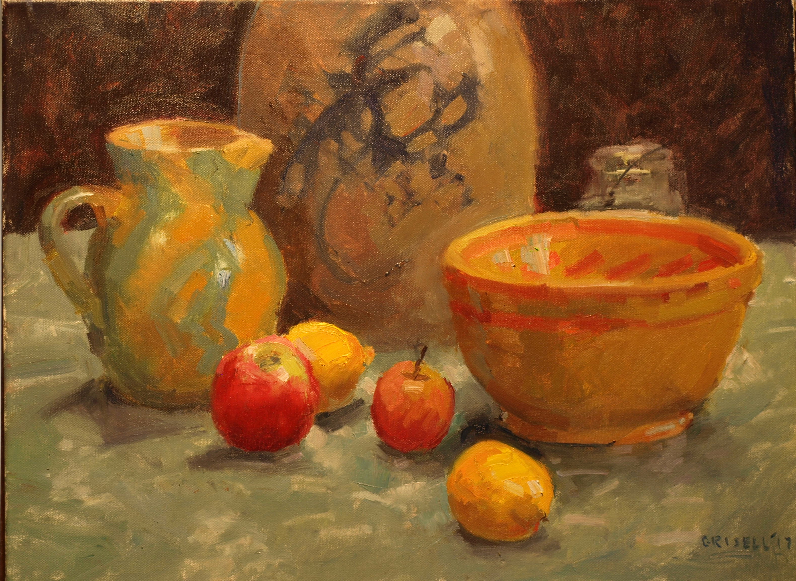 Tabletop Still Life, Oil on Canvas, 18 x 24 Inches, by Susan Grisell, $750