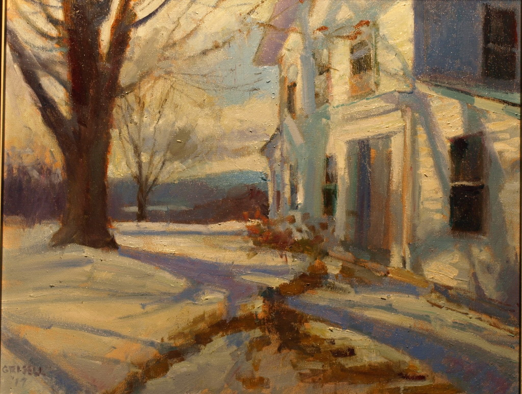 Winter on Geer Mountain, Oil on Canvas, 16 x 20 Inches, by Susan Grisell, $550