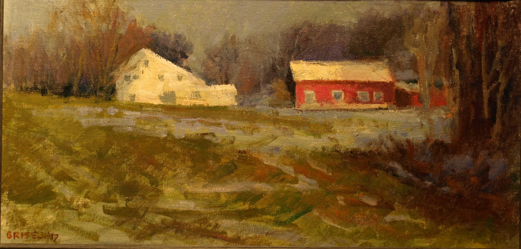 Farm on Geer Mountain, Oil on Canvas on Panel, 12 x 24 Inches, by Susan Grisell, $500