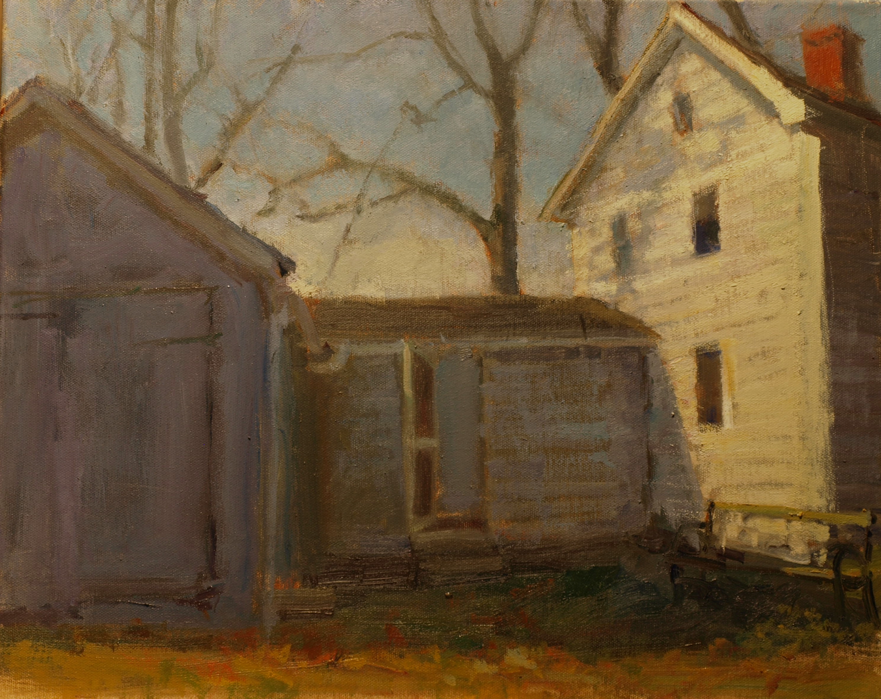 November, Oil on Canvas, 16 x 20 Inches, by Susan Grisell, $500