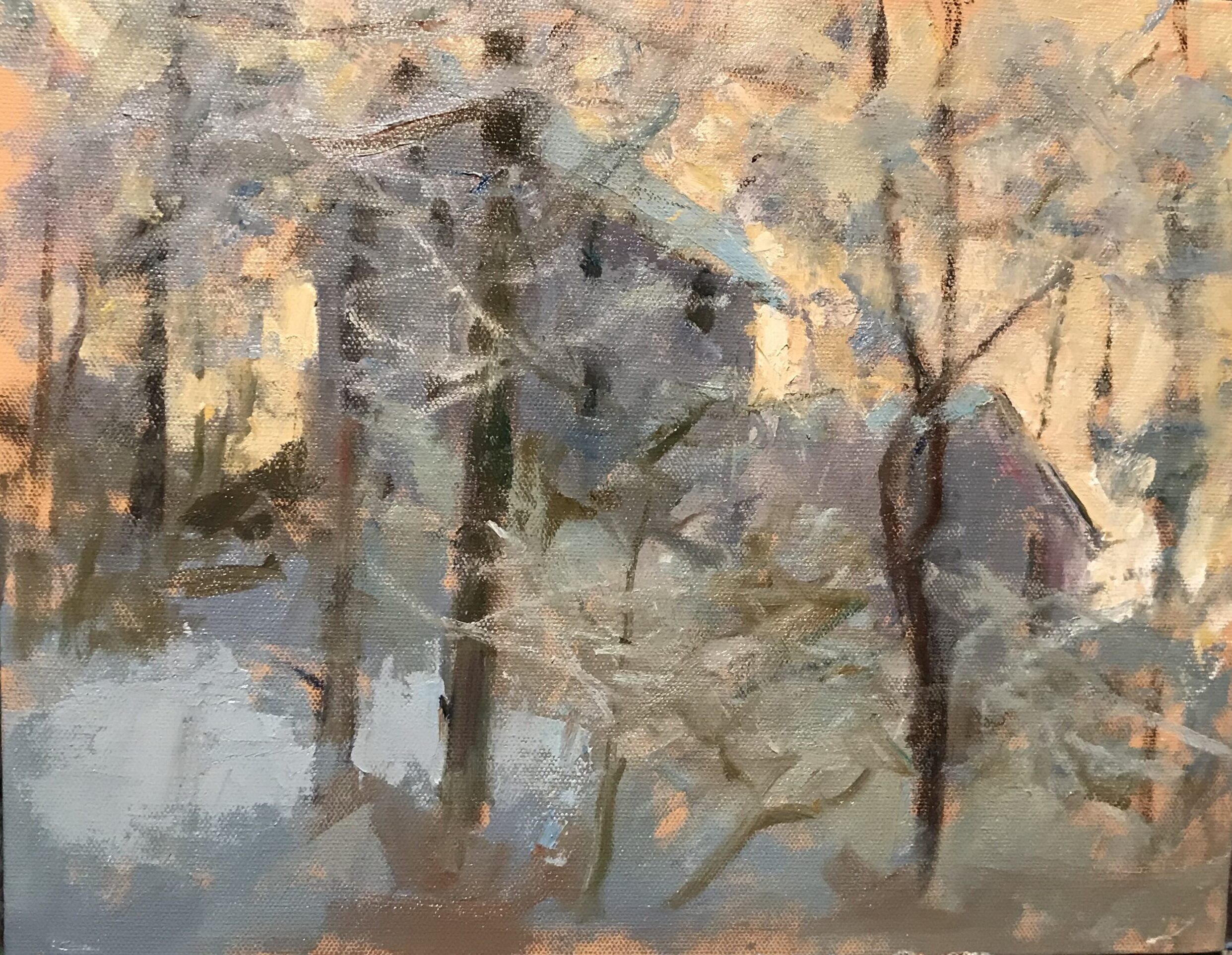 After Sunup, Oil on Canvas on Panel, 11 x 14 Inches, by Susan Grisell, $300