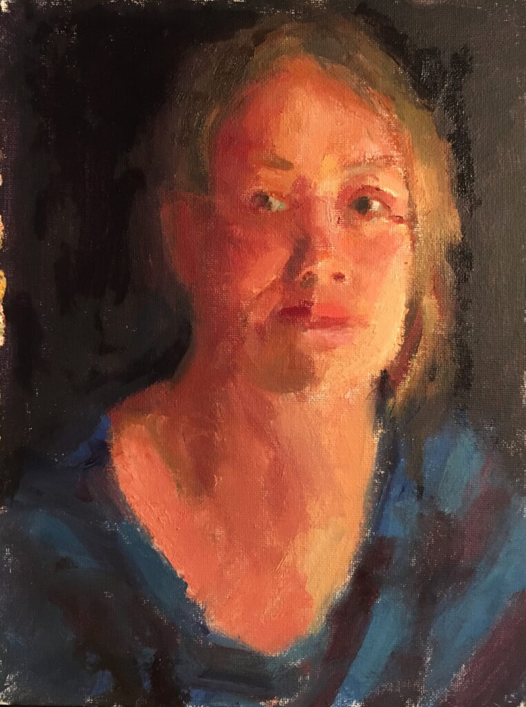 Amy, Oil on Canvas on Panel, 12 x 9 Inches, by Susan Grisell, $200