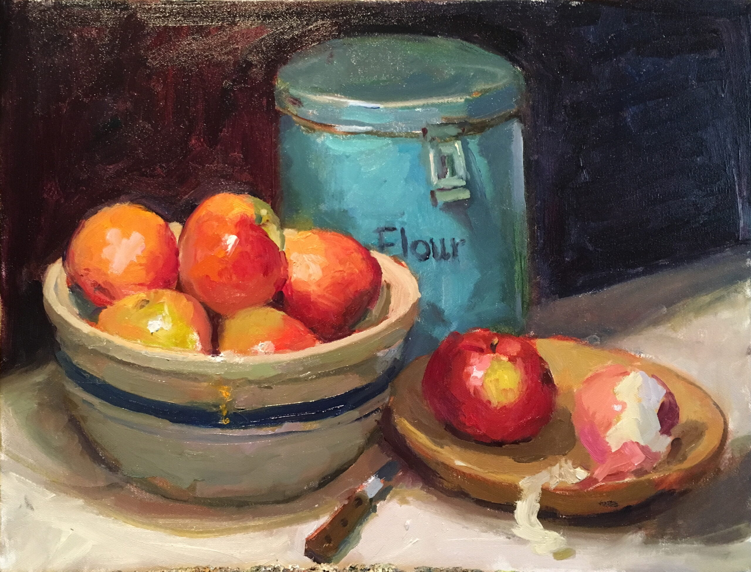Apple Pie, Oil on Canvas, 16 x 20 Inches, by Susan Grisell, $550