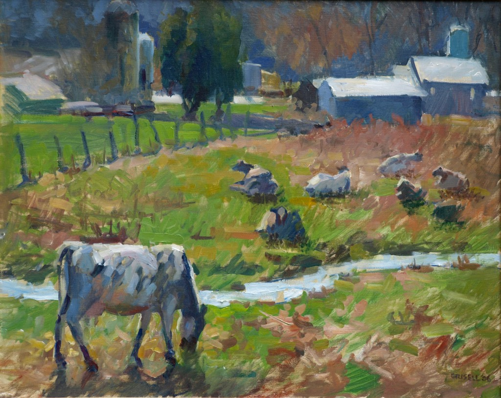 Arno's Farm, Oil on Canvas, 24 x 30 Inches, by Susan Grisell, $1200