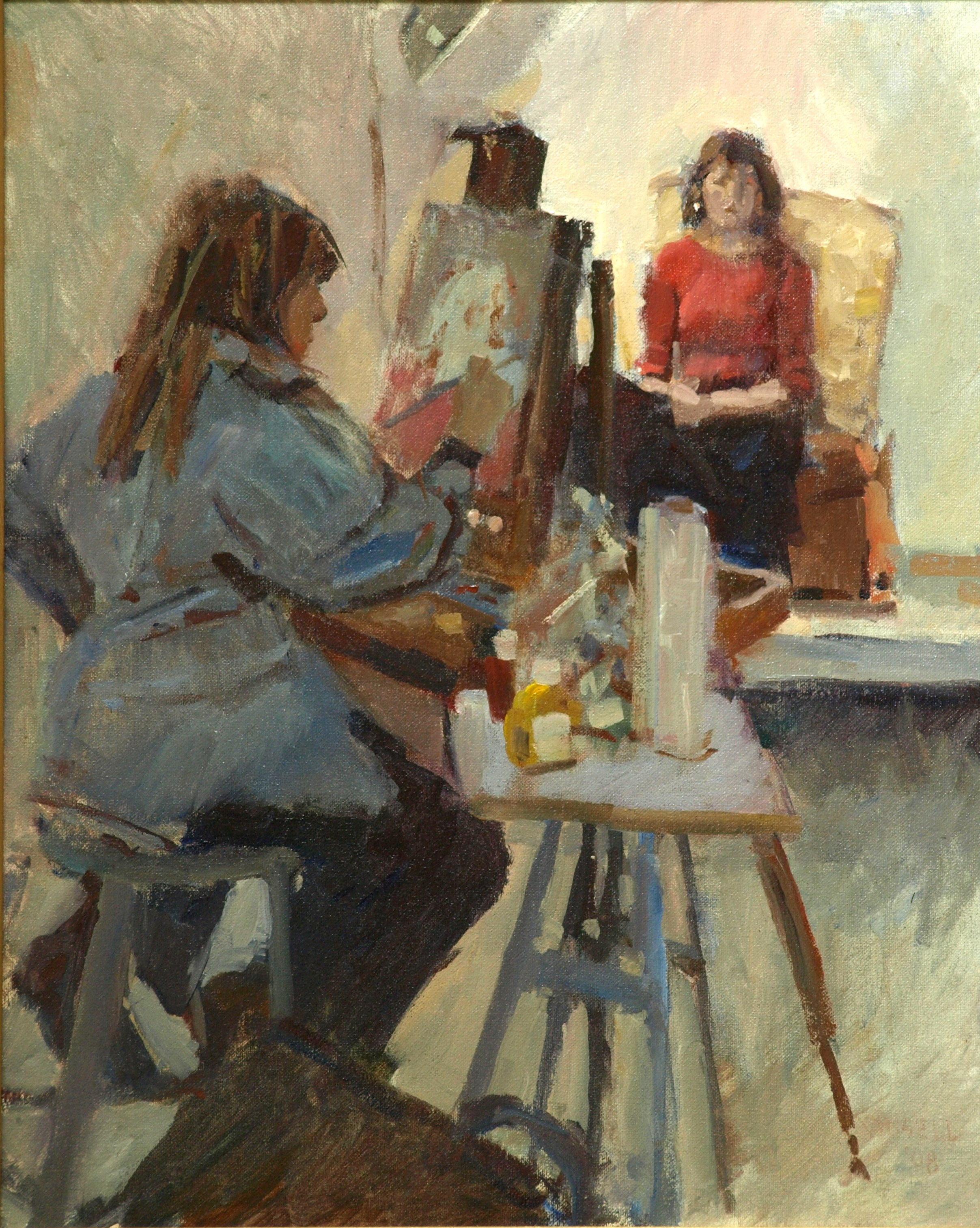 Art Student, Oil on Canvas, 20 x 16 Inches, by Susan Grisell, $425