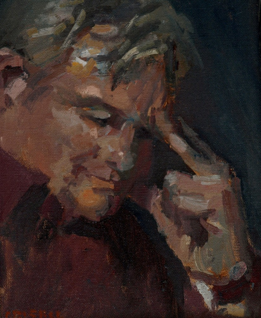 Bill, Oil on Canvas, 18 x 28 Inches, by Susan Grisell, $800