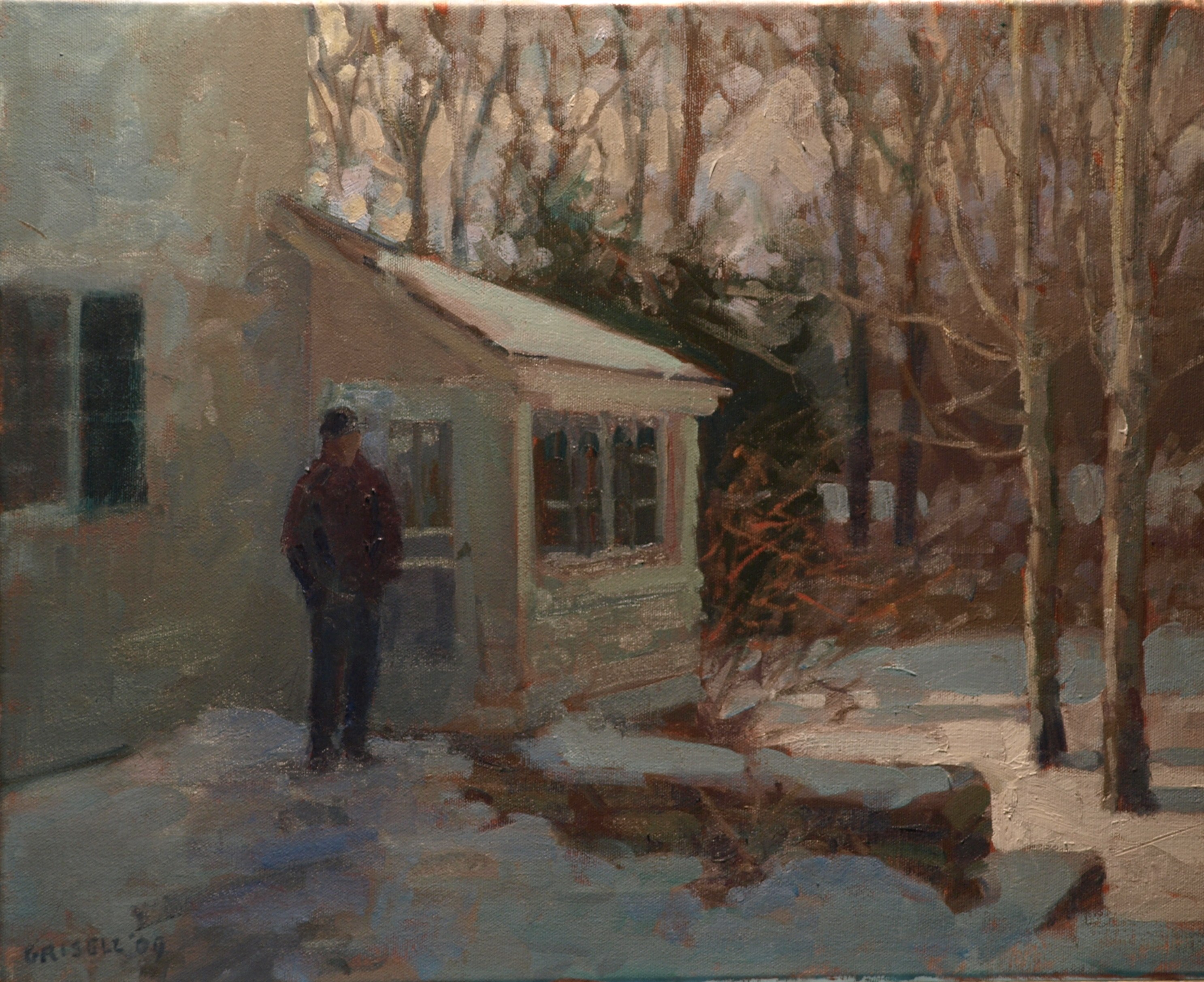 Bill's House, Oil on Canvas, 16 x 20 Inches, by Susan Grisell, $425