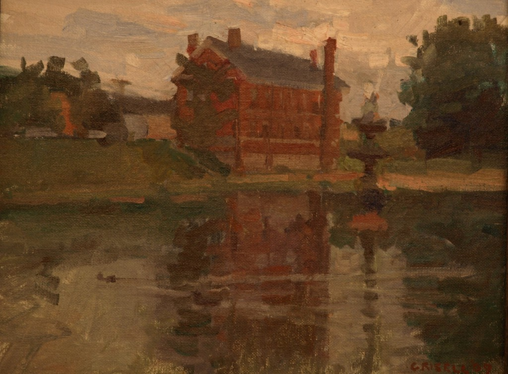 Brick Building - Newburyport, Oil on Board, 11 x 14 Inches, by Susan Grisell, $250