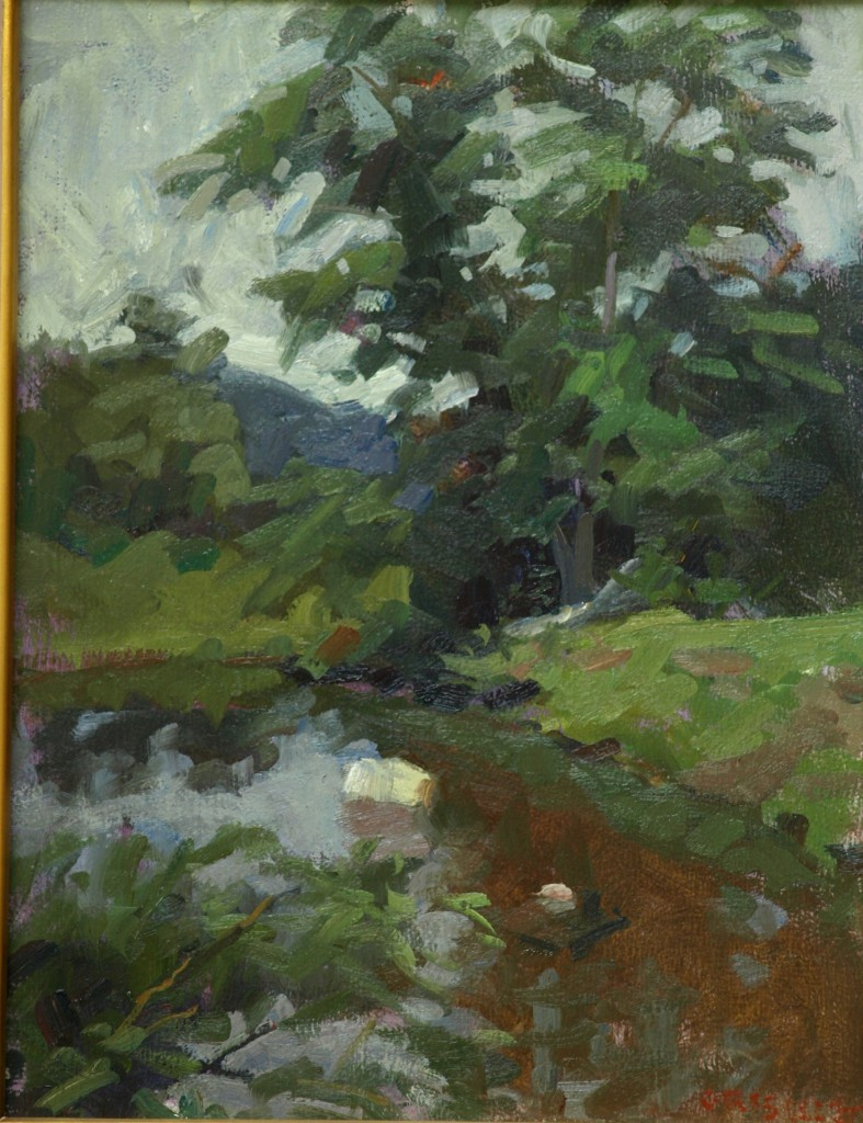 Bridge at McGoldrick's, Oil on Panel, 16 x 12 Inches, by Susan Grisell, $300