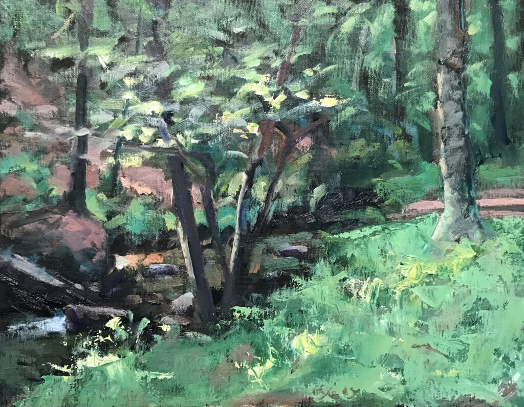 """""""Brook at Macedonia"""" Oil on Canvas on Panel, 11 x 14 Inches by Susan $275"""