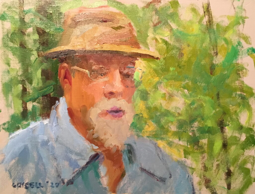 Dennis, Oil on Canvas on Panel, 11 x 14 Inches, by Susan Grisell, $300