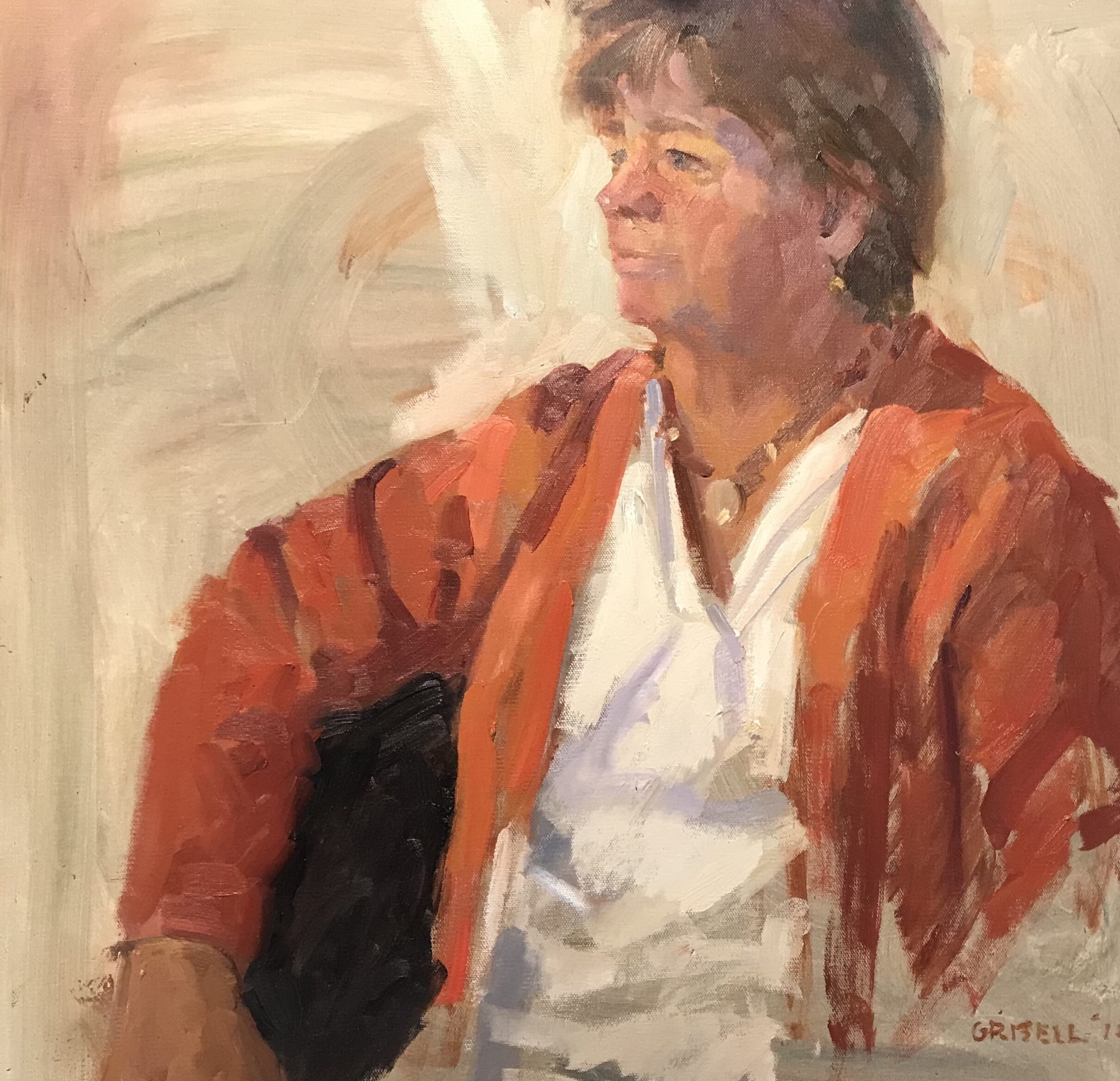"""""""Diane"""" Oil on Canvas, 24 x 24 Inches, $800"""