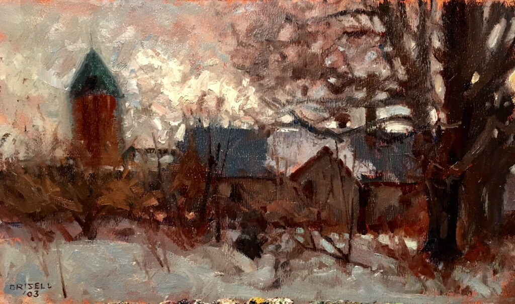 Dutchess County Barn, 9 x 16 Inches, Oil on Canvas on Panel, by Susan Grisell, $275