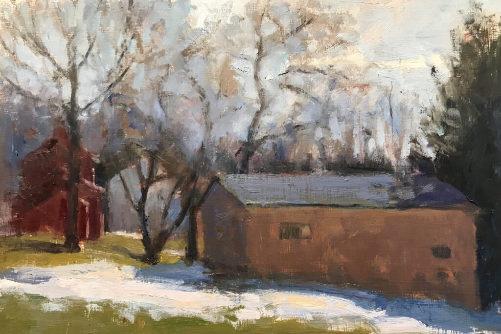 End of Winter, Oil on Panel, 12 x 18 Inches, by Susan Grisell, $325