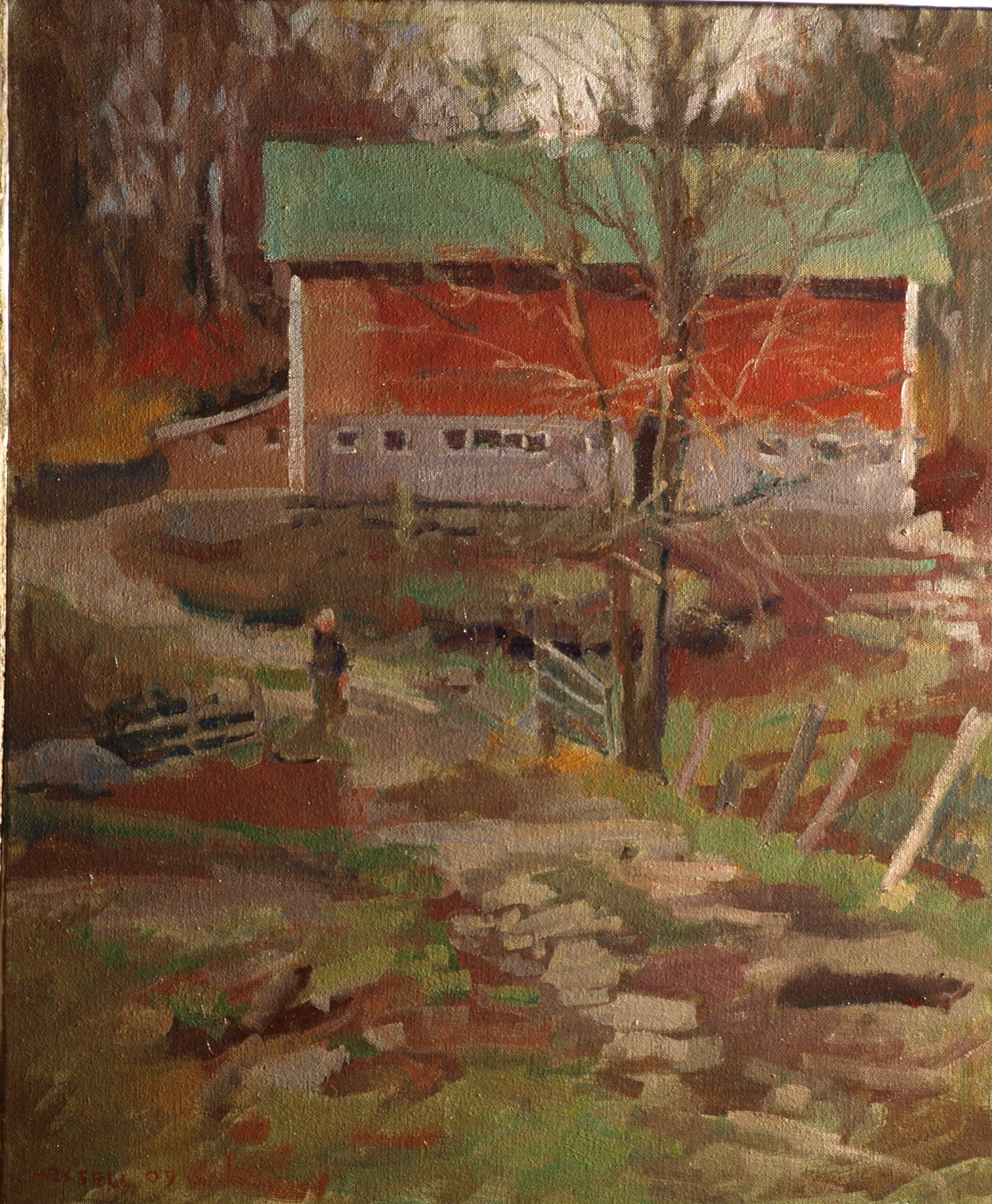 Farm Road, Oil on Canvas, 24 x 20 Inches, by Susan Grisell, $650