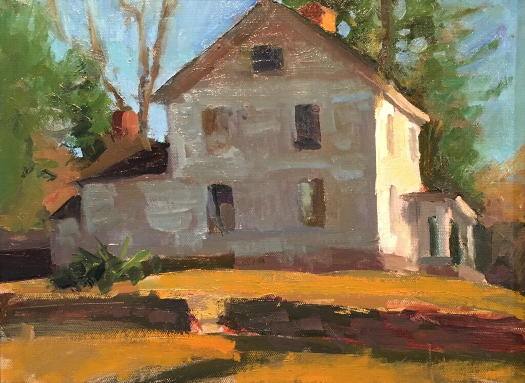 The Flynn House in March, 11 x 14 Inches, Oil on Canvas on Panel, by Susan Grisell, $325