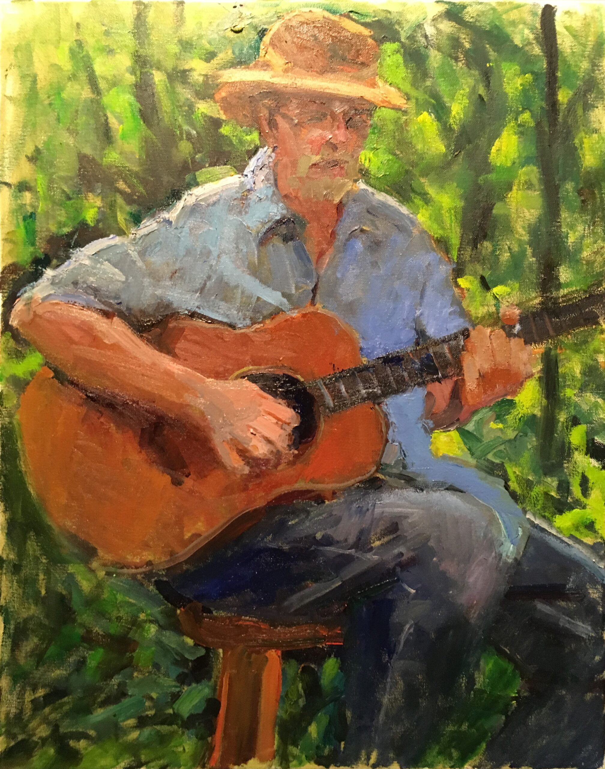 Folk Song, Oil on Canvas, 24 x 18 Inches, by Susan Grisell, $750