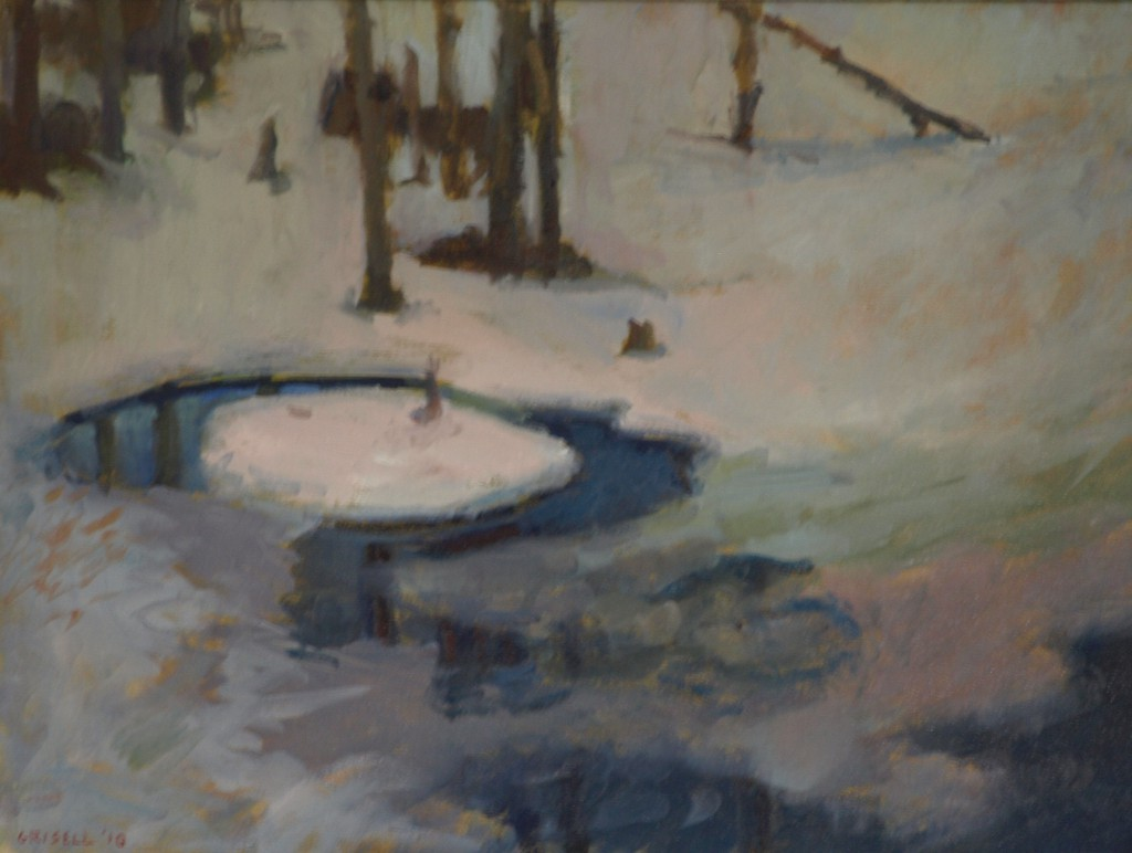 Frozen Swamp, Oil on Canvas, 18 x 24 Inches, by Susan Grisell, $650