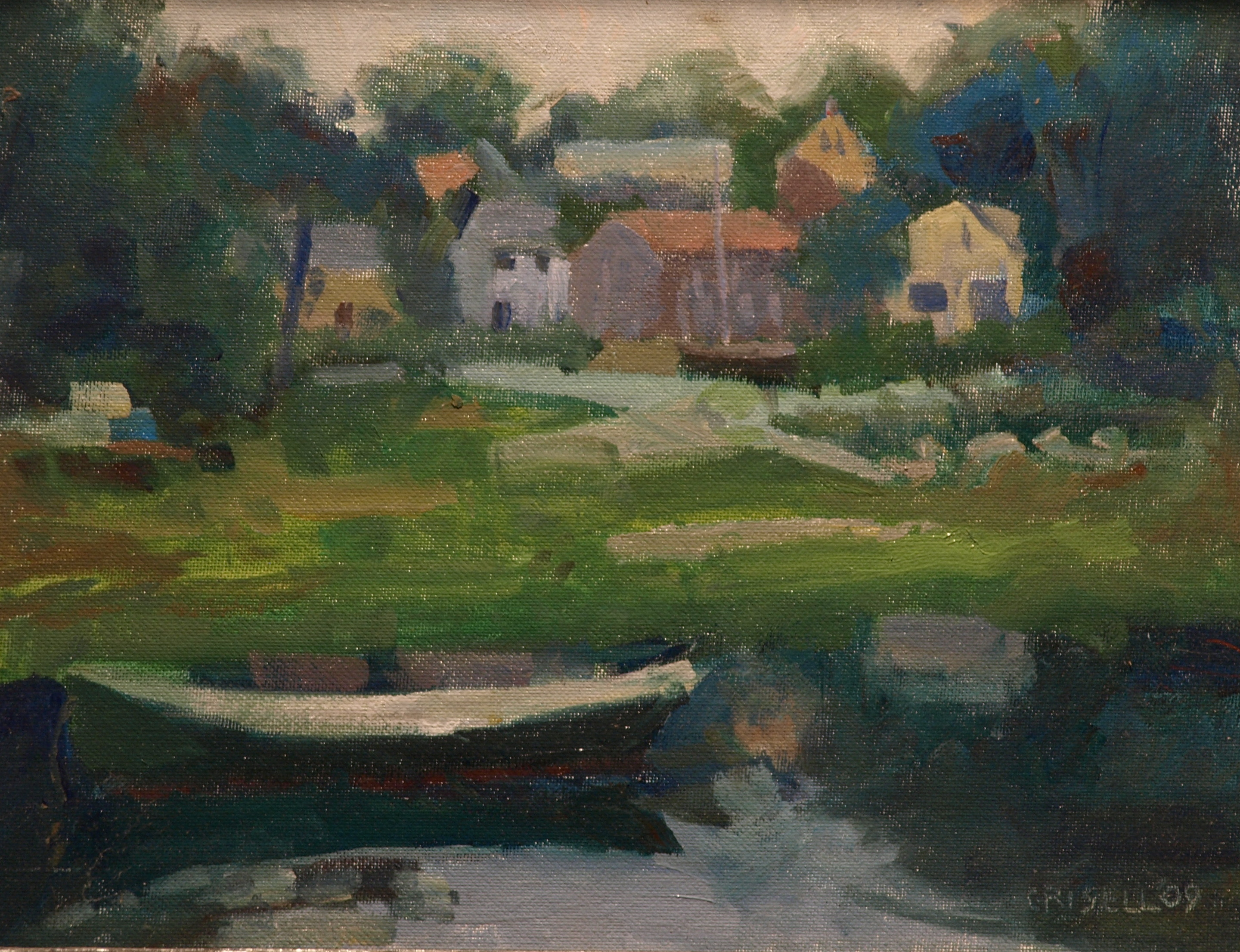 Gray Day - Cape Ann, Oil on Canvas on Panel, 11 x 14 Inches, by Susan Grisell, $275