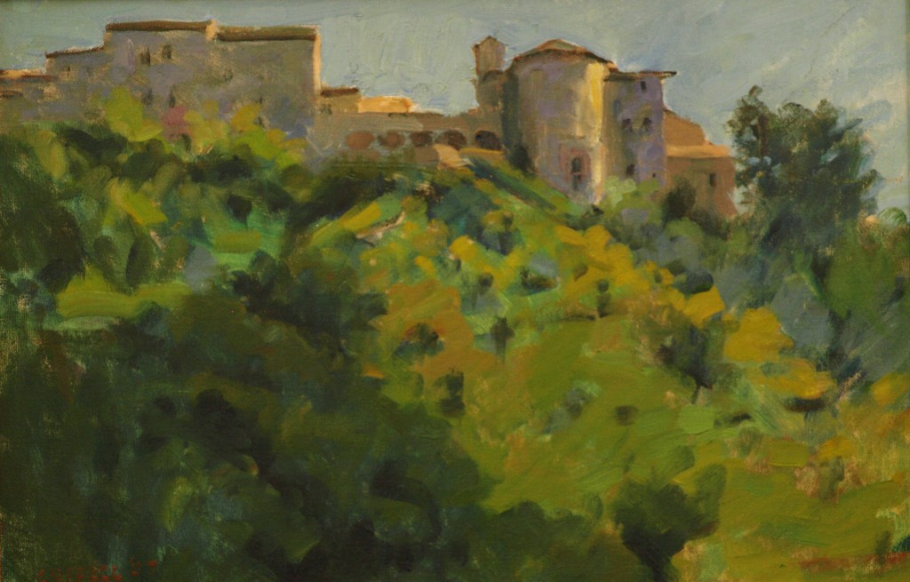 Italian Hill Town - Amelia, Oil on Panel, 12 x 18 Inches, by Susan Grisell, $325