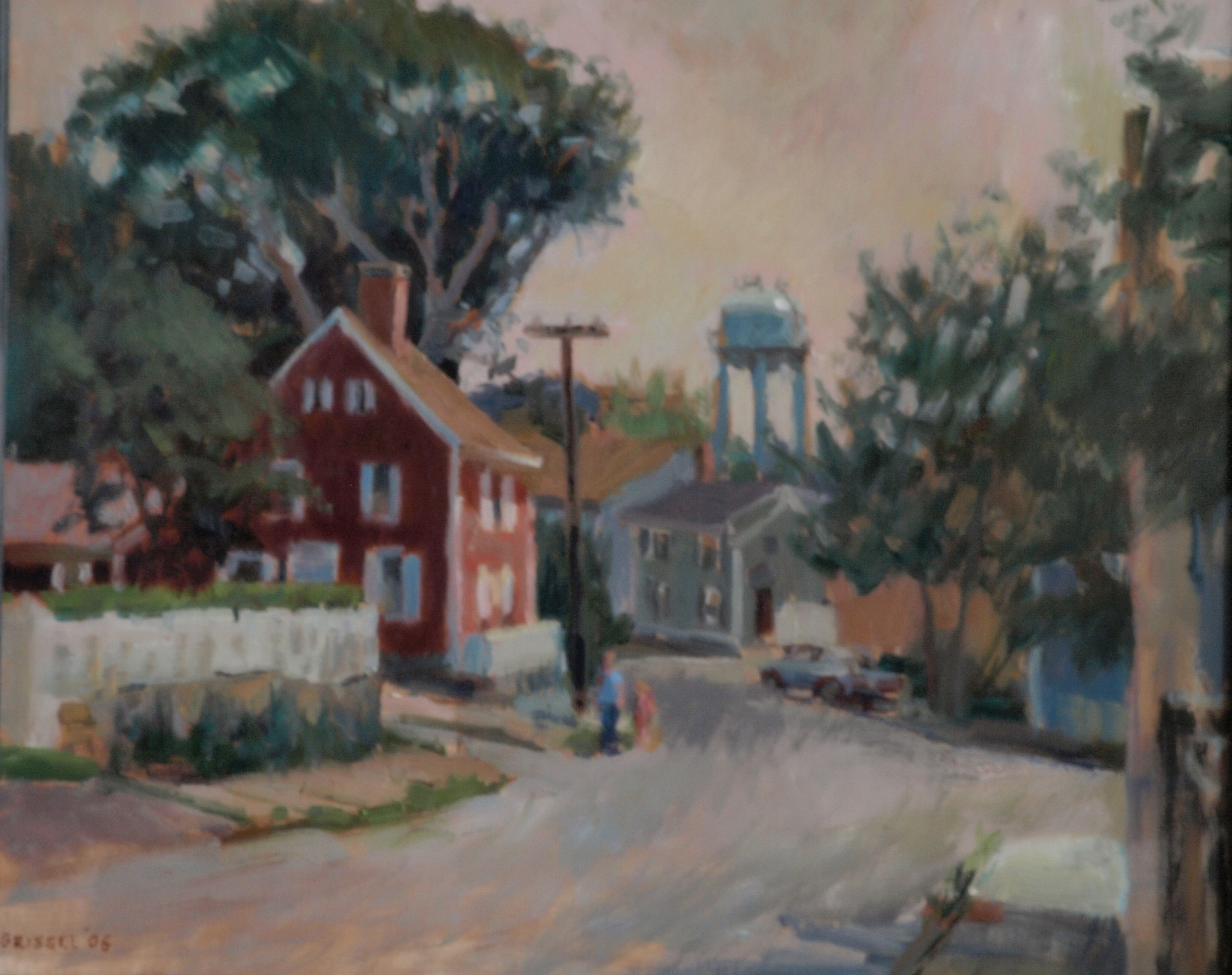 July in Stonington, Oil on Canvas, 20 x 24 Inches, by Susan Grisell, $650