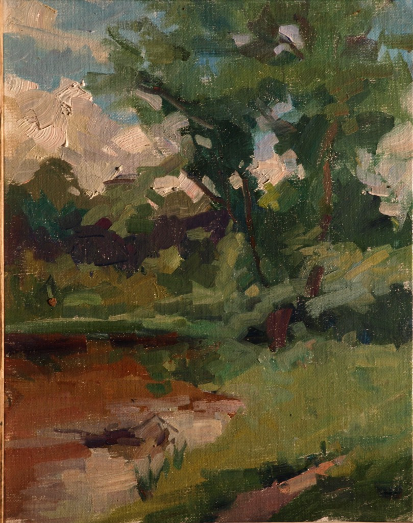 June Landscape, Oil on Panel, 11 x 14 Inches, by Susan Grisell, $275