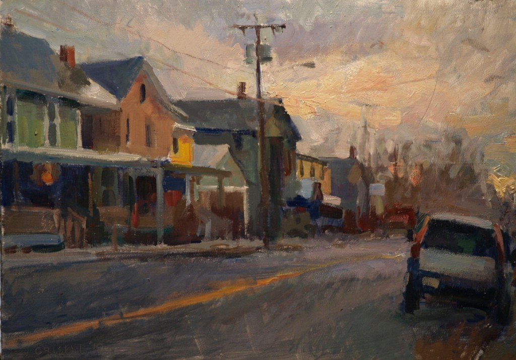 Kent at Year's End, Oil on Panel, 12 x 18 Inches, by Susan Grisell, $325