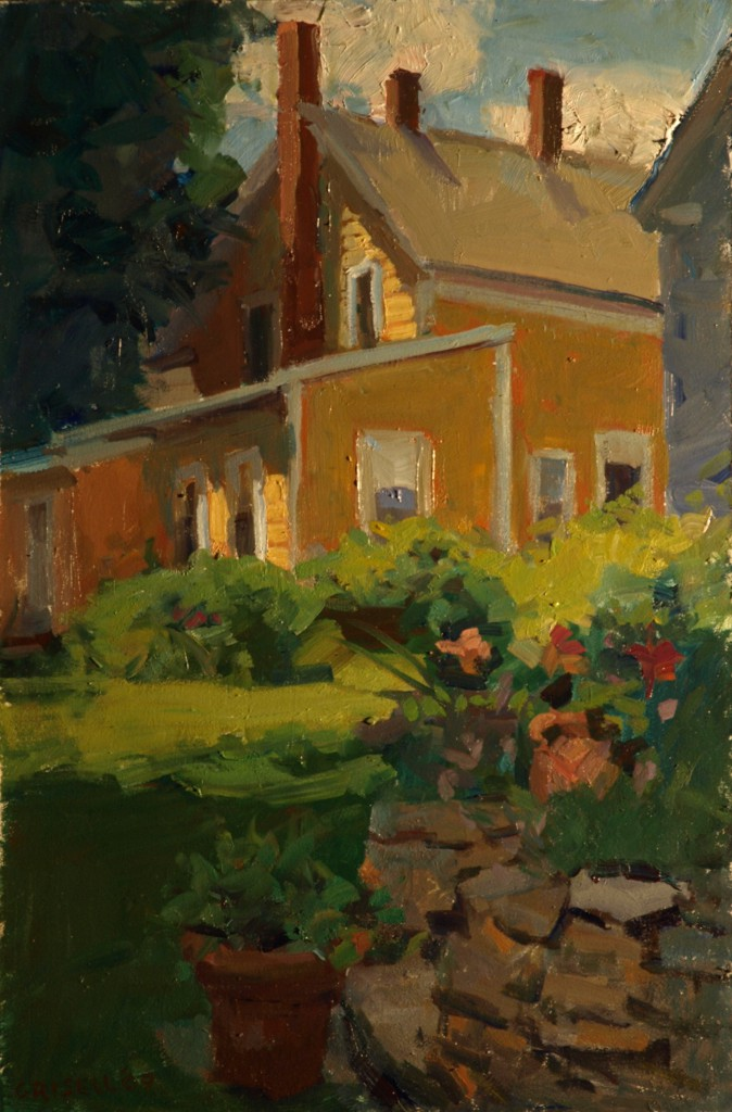 Laurie's House, Oil on Panel, 18 x 12 Inches, by Susan Grisell, $325